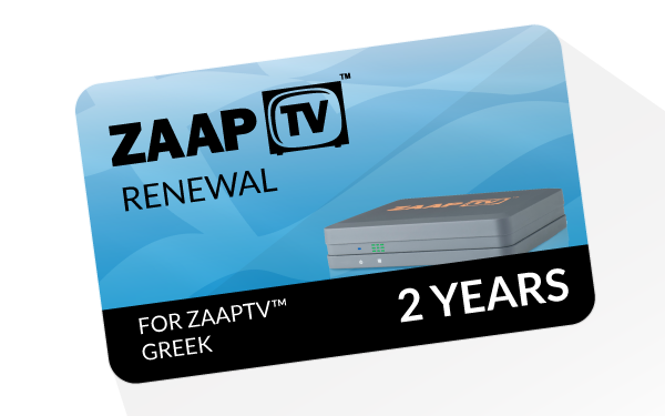 zaapTV 2 years Renewal