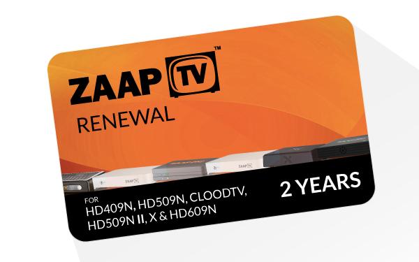 zaapTV Arabic 2 Year Service Renewal