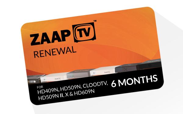 zaapTV Arabic 6 Months Service Renewal