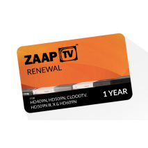 zaapTV 1 year Renewal